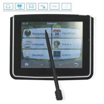 3.5 Inch Portable Multimedia Car GPS Navigator